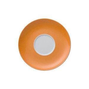 """Cappuccino-Untertasse 16,5 cm rund mit Spiegel """"Sunny Day Orange"""" Thomas"""