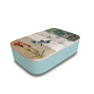 Lunchbox Classic Dragonfly Collage chic mic