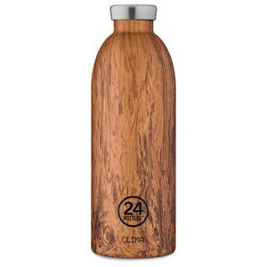 Thermo-Trinkflasche 0,85l Clim 24Bottles Sequoia Wood 24bottles