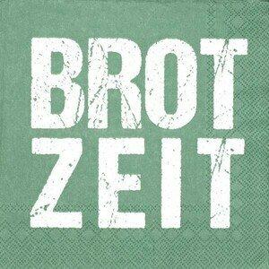 Servietten 33x33 cm Brotzeit, grün Räder