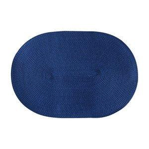 Tischset blau oval 45 cm x 31 cm naturähnliche Kunstfaser Continenta
