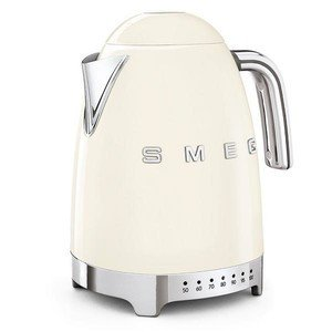 Wasserkocher 1,7 l 2400 Watt mit Temperaturanzeige creme smeg