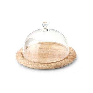 Käseglocke rund 26cm 2 teilig Glas Continenta