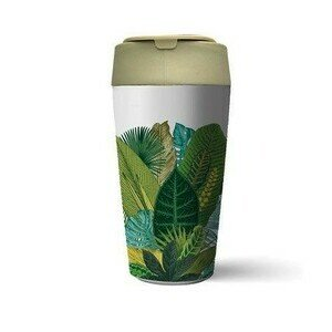 To Go Becher 420ml bioloco plant deluxe exotic leaves chic mic