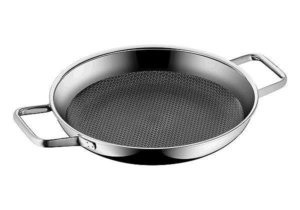 servierpfanne 28 cm profi resist edelstahl pfannen kochen braten kochen braten. Black Bedroom Furniture Sets. Home Design Ideas
