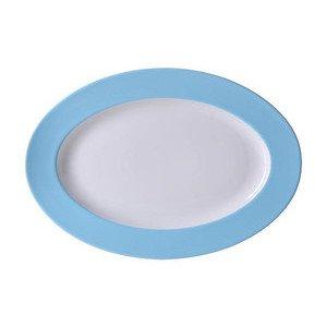 "Platte 33 cm ""Solid Color Hellblau"" oval Dibbern"