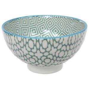Rice Bowl 12x6,5cm Geo Eclectic Green CNB Tokyo design studio