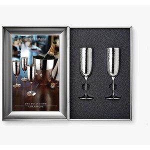 Champagner-Set 2-tlg Martele 90 g versilbert Robbe & Berking