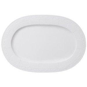 "Platte 35 cm oval ""White Pearl"" Villeroy & Boch"