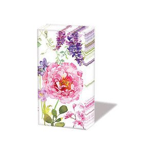 Papiertaschentücher Pink Roses white Ambiente
