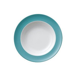 """Suppenteller 23 cm """"Sunny Day Turquoise"""" turquois Thomas"""