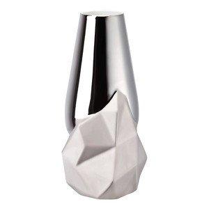 Vase 27 cm platin titanisiert Geode Rosenthal