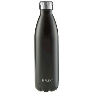 Isolierflasche 0,75l schwarz Edelstahl lackiert FLSK