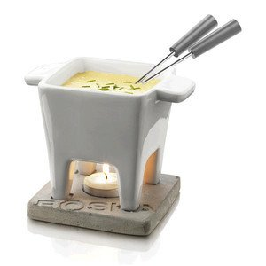 Tapas Fondue Set Beton mit Teelicht Boska