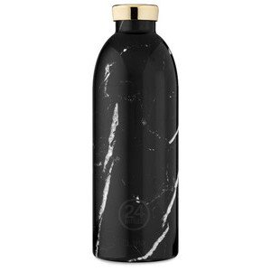 Thermo Trinkflasche 0,85 l Black Marble 24bottles