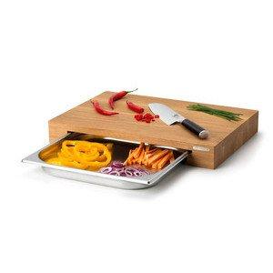 Schneidebrett Eiche mit Schublade 48 X 32,5 x 6 cm Continenta