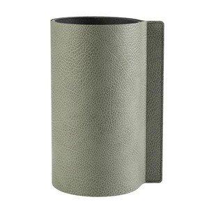 Block Vase 30 cm Hippo olive green LINDDNA