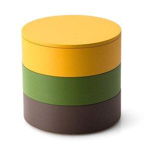 Aufbewahrungs Set 3tlg. braun/grün/gelb Continenta