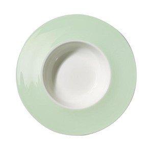 Teller tief 26 cm breiter Rand Pastell mint Dibbern