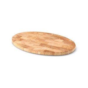 Vesperbrett oval 30 cm geölt Gummibaum Stirnholz Continenta