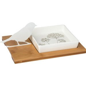 Tischdekoration Bird Silhouette white IHR