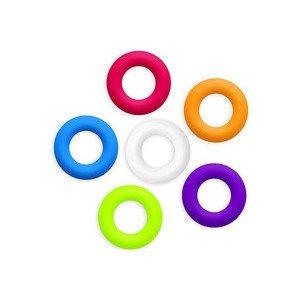 Untersetzer 6 Stk. mehrfarbig ofenfest 6,3 x 1,5 cm Contento