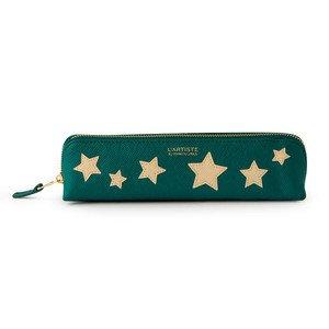 Federmäppchen bluegreen mit beigen Sternen Printworks