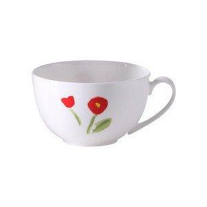 Kaffeeobertasse 0,25l rund Impression Blume rot Dibbern