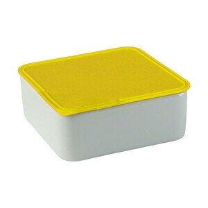 Schale quad.m. Deckel 15 cm Küchenfreunde Kunststfoff gelb Arzberg