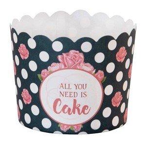 Cupcake Papierförmchen 12 Stüc All you need is Cake Städter