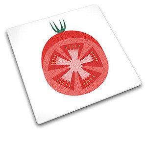 Schneidplatte Rote Tomate Glas 30 x 30 cm Joseph Joseph