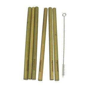 Trinkhalme 6er-Set Bambus zuperzozial