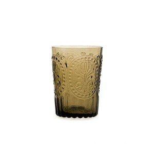 Wasserglas L Fleur de Lys braun Van Verre