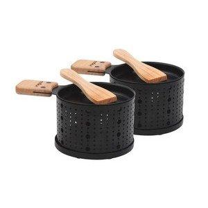 Raclette-Stövchen 2er Set Lumi schwarz Cookut