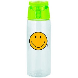 Trinkflasche 0,75 ltr. Smiley Klassik transparent/grün Zak Design