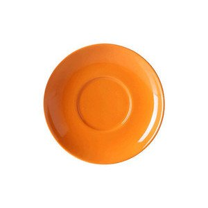 Cappuccinountertasse Solid Color Orange rund Dibbern