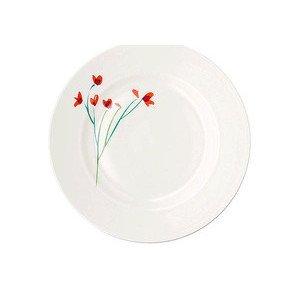 Teller 26,5 cm Impression Blume Rot flach Dibbern