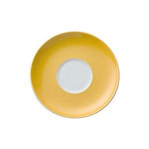 """Cappuccino-Untertasse 16,5 cm rund mit Spiegel """"Sunny Day Yellow"""" Thomas"""
