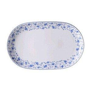 Platte 32 cm oval Form 1382 Blaublüten Arzberg