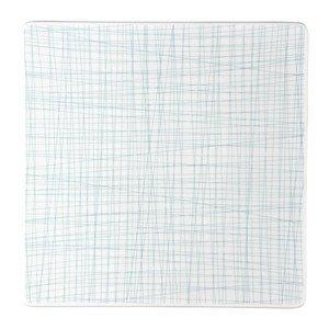 Teller quadr. 31 cm flach Mesh Line Aqua Rosenthal