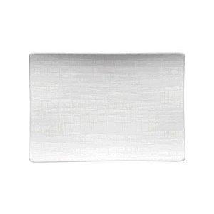 "Platte 18 cm x 13 cm ""Mesh weiss"" flach Rosenthal"
