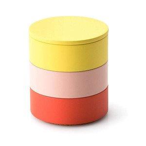 Aufbewahrungs-Set, 3-tlg., Ø 9 cm, koralle/rosé/zitrone Continenta