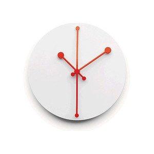 Wanduhr aus Stahl Super White Dotty Clock Alessi