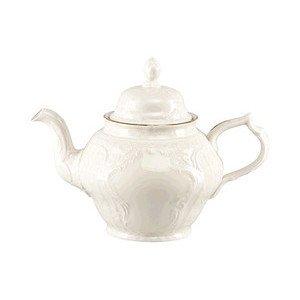 """Teekanne 1,25 l mit Relief """"Sanssouci Elfenbein Gold"""" Rosenthal"""
