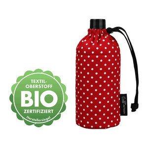 Trinkflasche 600 ml Bio Punkte Rot Emil