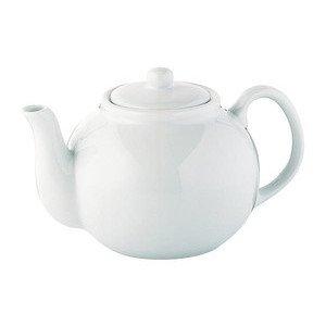 Teekanne 1,25 l weiss Porzellan Cilio