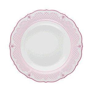 Suppenteller 24cm Fahne Baronesse Estelle PinkGrid Hutschenreuther