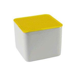 Schale quad.hoch m. Deckel 15 Küchenfreunde Kunststfoff gelb Arzberg