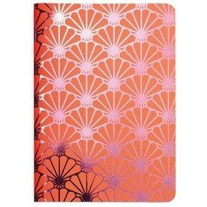Heft A6 Metallic Shell pink