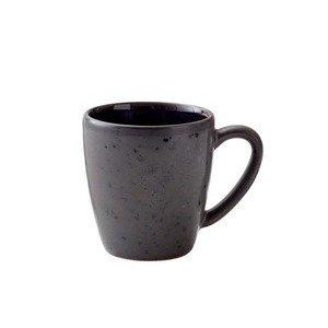 Henkelbecher 0,19 l schwarz/dunkelblau Bitz